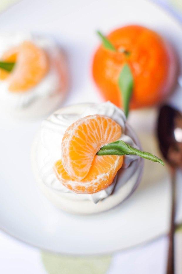 mini pavlova mandarines noel