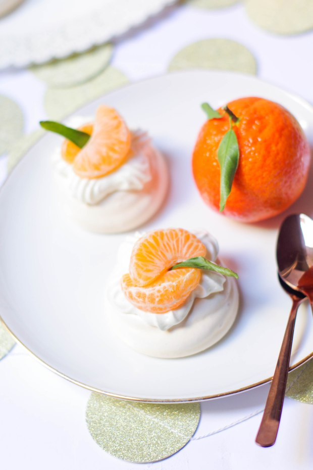 recette pavlova noel mandarines