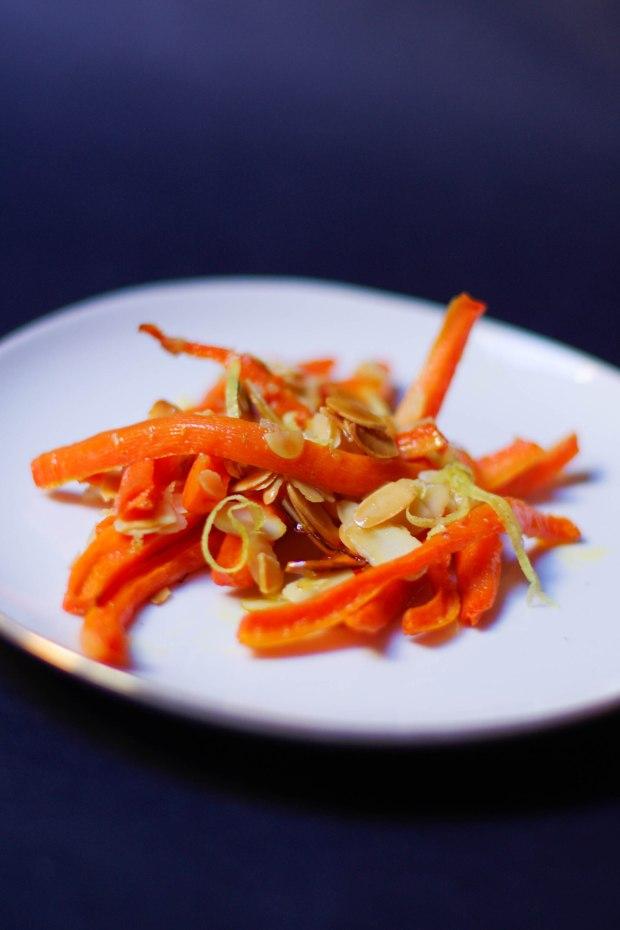 carottes roties amandes citron huile olive