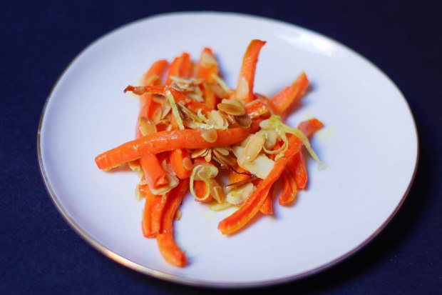 carottes roties amandes grillee