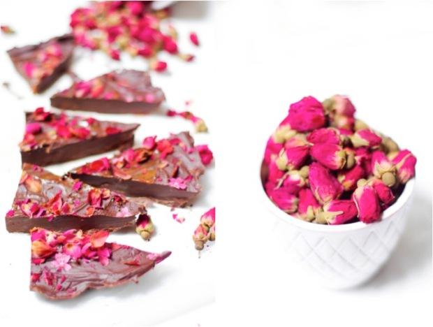 chocolat confiture de lait roses