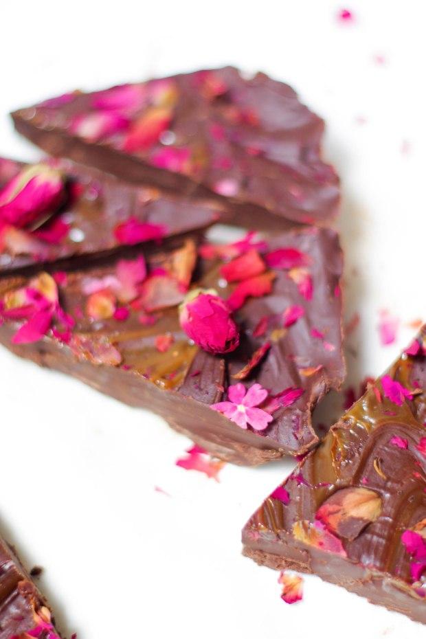 chocolat rose confiture lait