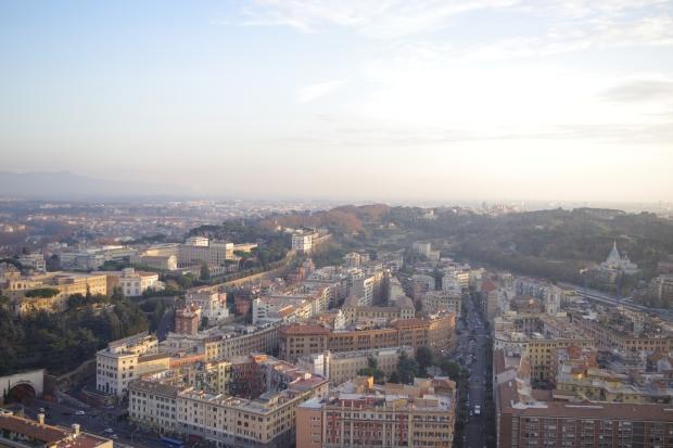 vue rome dôme basilique saint pierre
