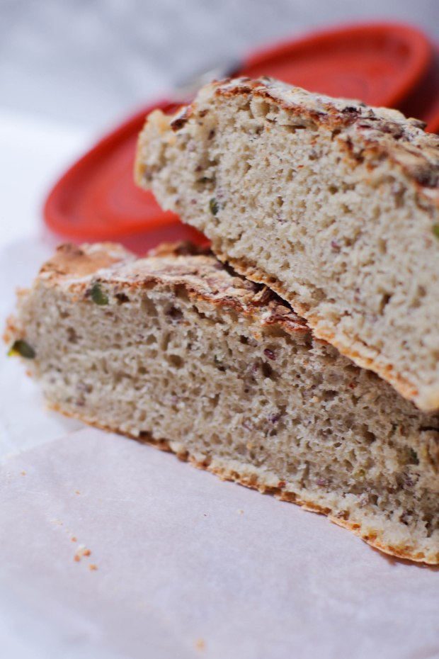 pain campagne à la pistache