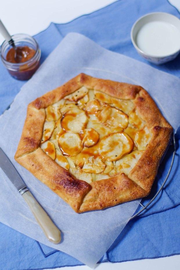 tarte rustique pomme confiture lait