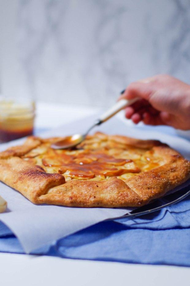 tarte rustique pommes confiture de lait