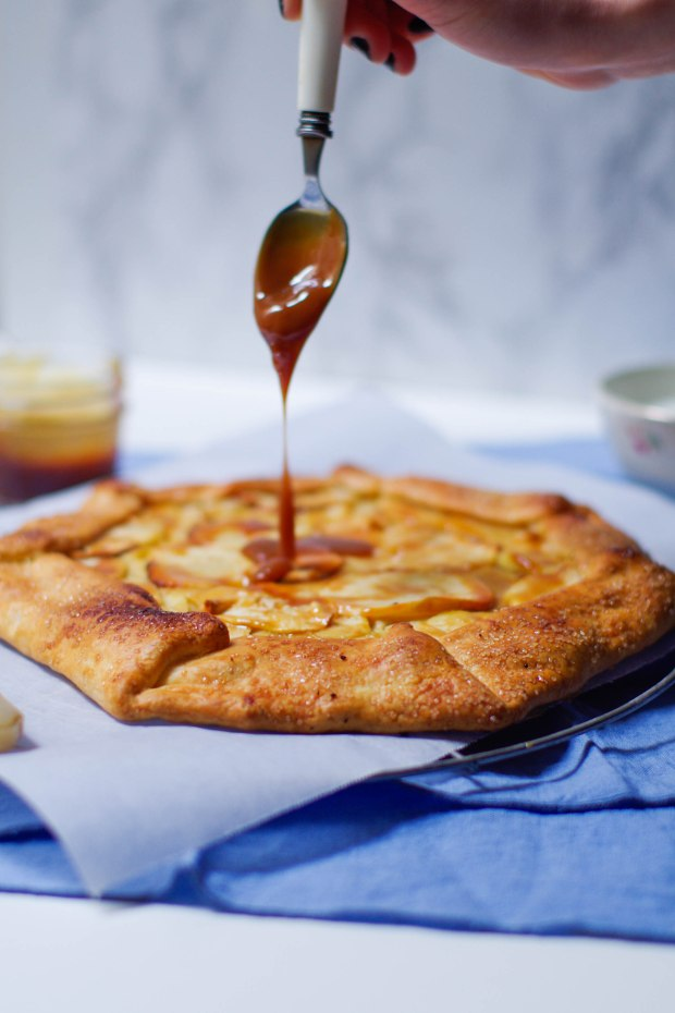 tarte rustique pommes confiture lait