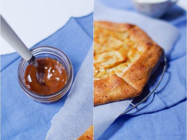 tarte rustiques pommes confiture de lait