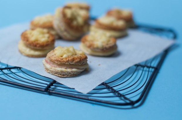 mini croque monsieur jambon fromages