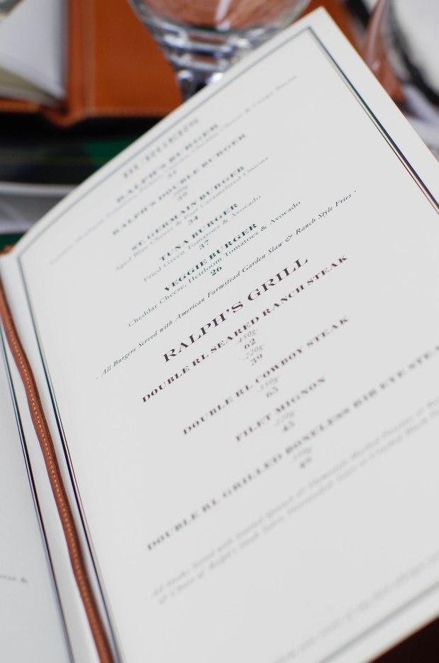 ralphs restaurant menu