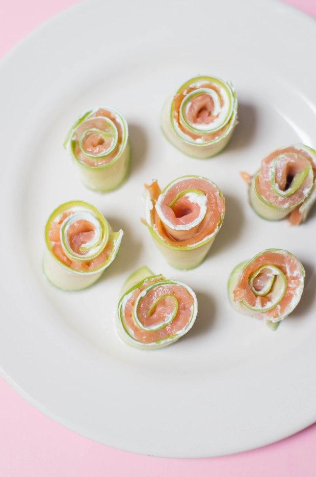 roulés saumon courgette fromage