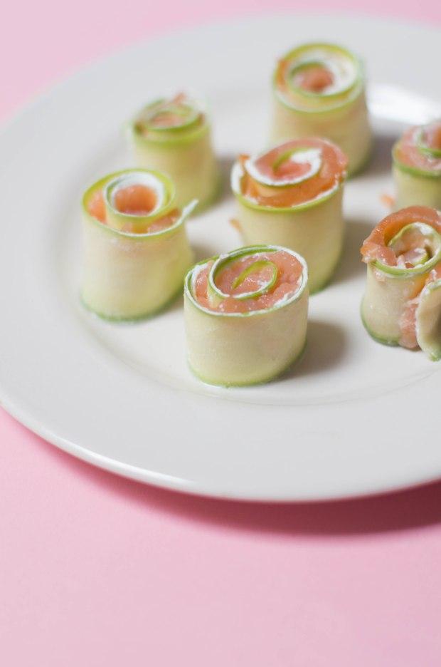 roulés saumon et courgettes fromage