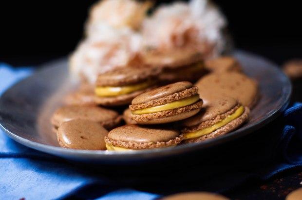 recette macaron chocolat confiture de lait