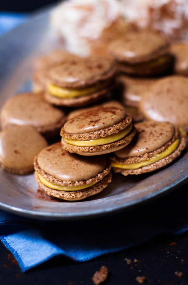 recette macaron chocolat confiture lait