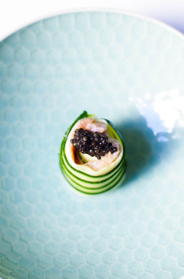 sushi caviar courgette saumon
