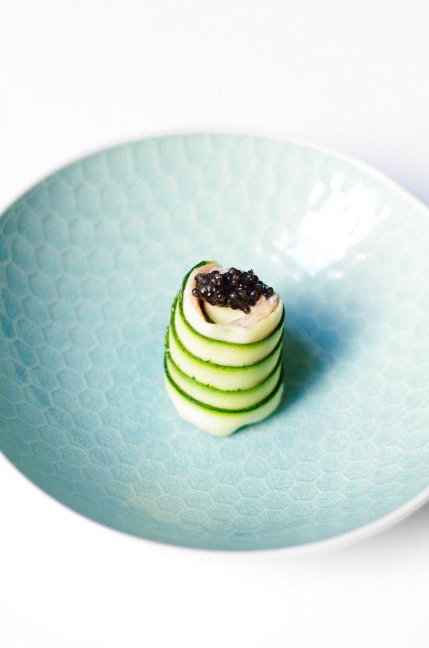 sushi caviar courgette