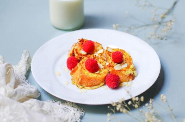 recette-pain-perdu-framboises-amandes-maison