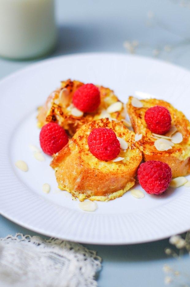 recette-pain-perdu-framboises-amandes