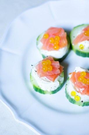 bouchées saumon noel