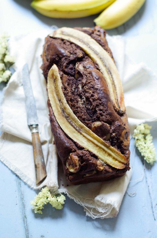 banana bread chocolat
