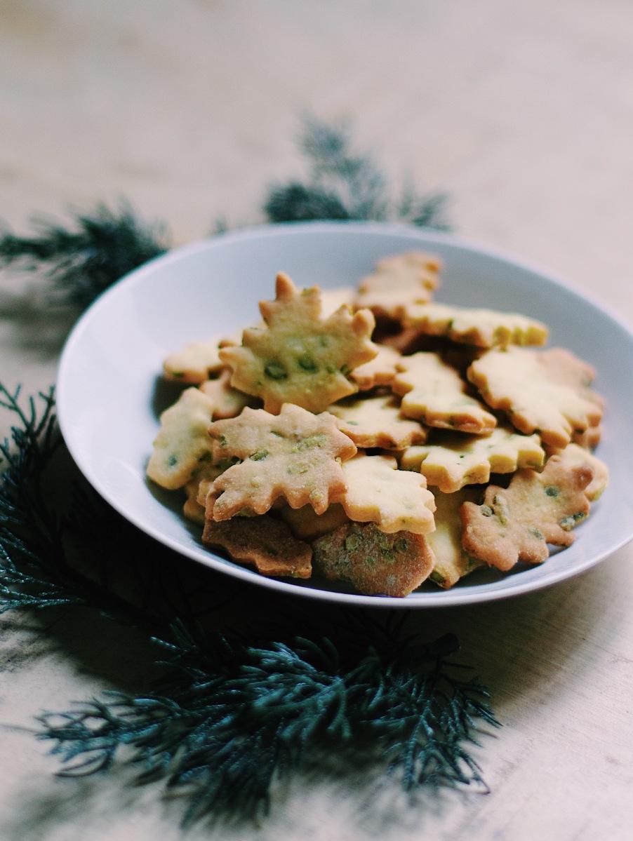 sablés de noël à la pistache