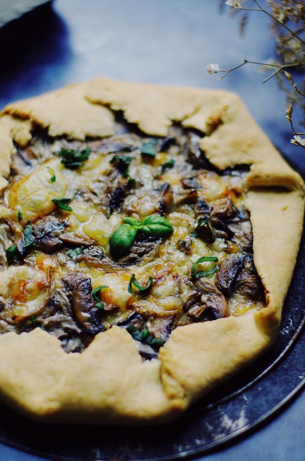 recette de tarte rustique champignons